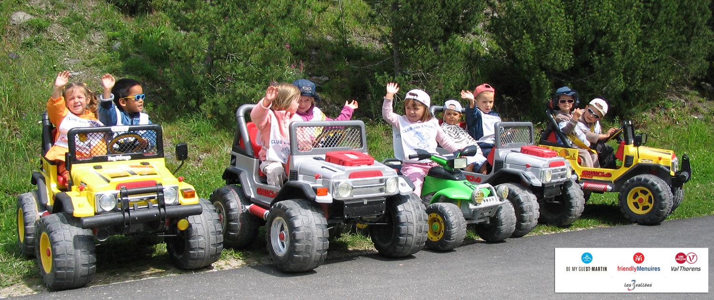 Quad pour enfants aux Menuires avec Altana Bike